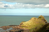 View of Antrim coast and rock landscape, Ireland, UK