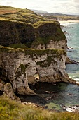 View of Antrim coast cliffs and sea, Ireland, UK