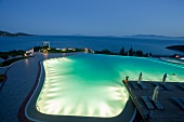View of pool in Kempinski Hotel Barbaros Bay, Turkey