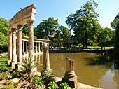 Colonnade in Parc Monceau in Paris, France