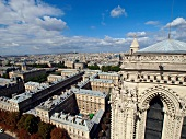 View of Notre Dame Cathedral in Paris, France