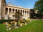 Exterior of Grand Palais Museum in Paris, France