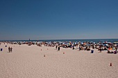 View of people on beach in New York, USA