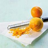 Öl, Schale von den Orangen abreiben, Step 1