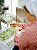 Pasta maker Antonett Briese (Worphausen, Northern Germany)