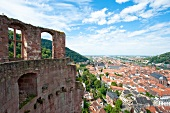 View of Old Town from Heidelberg Castle, Germany