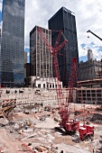 Construction work going on in Ground Zero site in New York, USA