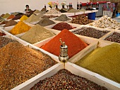 Close-up of spices in market, Antalya