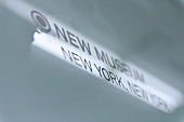 Signboard of New Museum, New York, USA