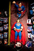 Statue of Superman in Fantasy and Carnival Store at SoHo, New York, USA