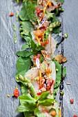 Fish carpaccio from Lake Maggiore (Lombardy, Italy)