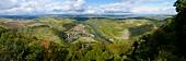 Aerial view of Oberhausen near Wine Region, Ruhr, Germany