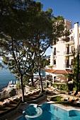 Elevated view of Hotel Miramar at Opatija, Kvarner Riviera, Croatia