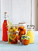 Homemade preserves and drinks