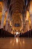 Interior of St Patrick's Cathedral in New York, USA