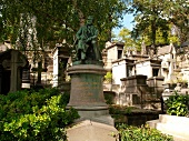 Graves in Pere Lachaise in Paris, France
