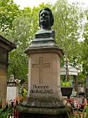 Pere Lachaise Honore de Balzac grave, Paris, France