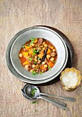 Lamb stew with pumpkin and chickpeas (Morocco)
