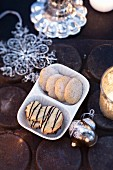 Classic German biscuits: Heidesand (German shortbread) and piped biscuits