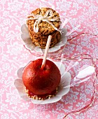 Cookies and a toffee apple as a gift