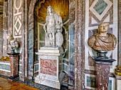 Versailles Busts statues at Versailles Palace, France