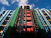 Exterior of Centre Georges Pompidou Library in Paris, France