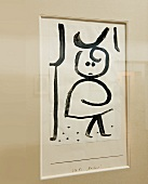 Klee's work X-chen frame at Rosengart Museum, Lucerne, Switzerland