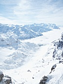 View of snow in Titlis, Uri Alps, Engelberg, Obwalden, Switzerland