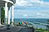 People standing in temple in Rheingau, Rudesheim am Rhein, Germany