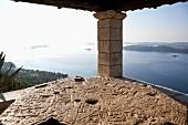 Coastal views from the Franciscan Monastery in Orebic, Croatia