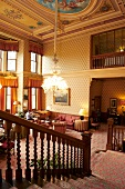 Lobby of Inverlochy Castle Hotel in Scotland