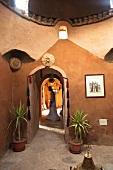 Entrance of Eskaleh Nubian Lodge in Abu Simbel, Egypt