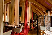 People at Restaurant La Salla in hotel Schloss Elmau, Upper Bavaria, Germany