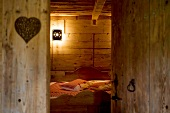 Wooden bedroom in Attics of Meix-Lagor, Franche-Comte, France