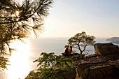 Büyükada, Aussicht aufs Marmarameer Prinzeninsel, Paar, Dämmerung