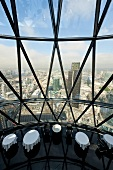 Interior of The Gherkin Restaurant, 30 St Mary Axe, London, UK