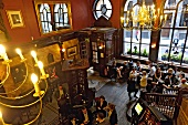 People dining at The counting house pub, London, United Kingdom