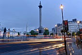 View of Trafalgar Square, St Martin-in-the-Fields and Nelson's Column, London, UK