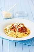 Pasta with a vegetable bolognese