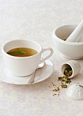 Herbal tea to stop the production of breastmilk