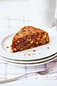 A nutritional cake made from beetroot and nuts suitable for pregnancy