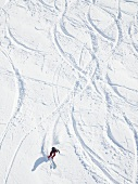 Skier skiing in Titlis, Engelberg, Switzerland