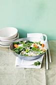 Stir-fried spring vegetables with glass noodles