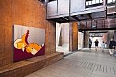 View of Urban Art - Graffiti 21 at Volklingen, Saarland, Germany