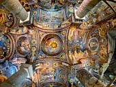 Fresco in Karanlik Church, Goreme, Nevsehir, Turkey, Low angle view