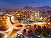 View of Kayseri city in Anatolia, Turkey