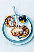 French toast with dried plums