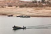Port of Abu Simbel on Nasser lake, Egypt