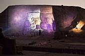 Sound and light show at Abu Simbel temple, Egypt