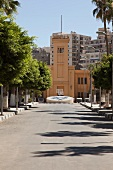 Facade of Victorian College in Alexandria, Egypt